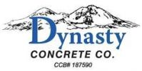 Dynast Concrete Logo: mountains